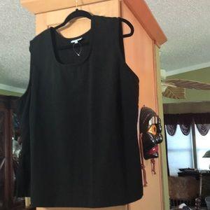 Very nice black sleeveless top fine quality